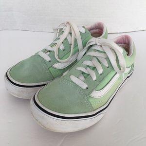 VANS Sneakers Girls 2 Green Suede & Canvas